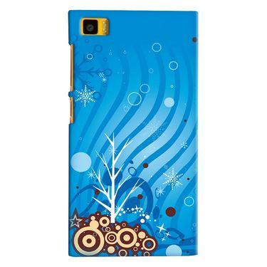 Snooky 38412 Digital Print Hard Back Case Cover For Xiaomi MI3 - Blue