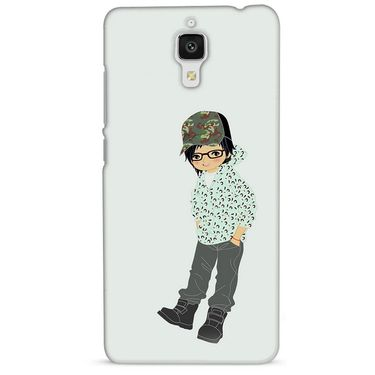 Snooky 38420 Digital Print Hard Back Case Cover For Xiaomi MI 4 - Green