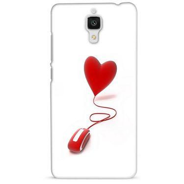 Snooky 38452 Digital Print Hard Back Case Cover For Xiaomi MI 4 - White
