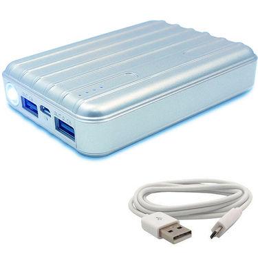 UNIC 15000mah Fashionable USB Portable Mobile Charger UN15K3 - Silver