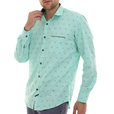 Bendiesel Printed Cotton Shirt_Bdc0101 - Sea Green
