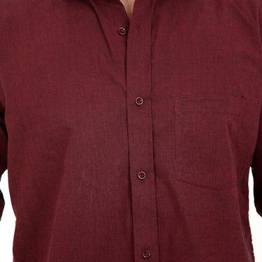 Bendiesel Plain Cotton Shirt_Bdf051 - Maroon