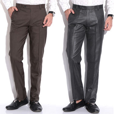 Pack of 2 Fizzaro Cotton Trouser_Ft104111 - Brown & Black