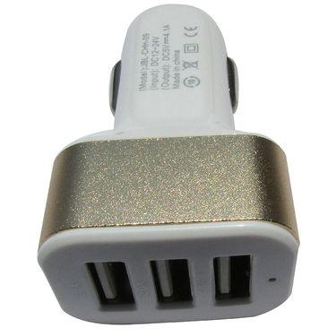 Flashmob C412CC 3 Port Preimium Car charger - White