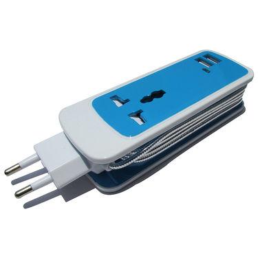 Flashmob C414WC Universal Dual USB Hub socket - Blue