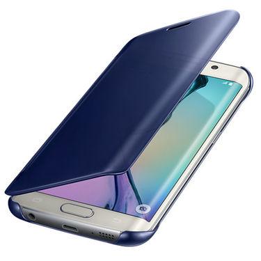 Flashmob C339FC Leather Finish Flip Cover For Samsung Galaxy S6 Edge - Blue