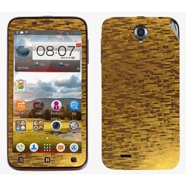 Snooky 18679 Mobile Skin Sticker For Lenovo A850 - Gold