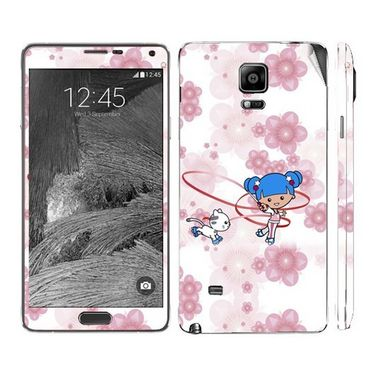 Snooky 39496 Digital Print Mobile Skin Sticker For Samsung Galaxy Note 4 - White