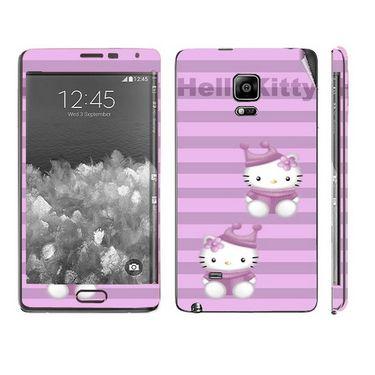 Snooky 39499 Digital Print Mobile Skin Sticker For Samsung Galaxy Note EDGE - Purple