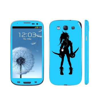 Snooky 39538 Digital Print Mobile Skin Sticker For Samsung Galaxy S3 I9300 - Blue