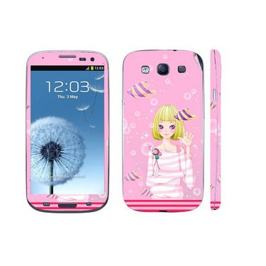 Snooky 39540 Digital Print Mobile Skin Sticker For Samsung Galaxy S3 I9300 - Pink