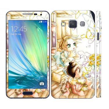 Snooky 39569 Digital Print Mobile Skin Sticker For Samsung Galaxy A5 - White