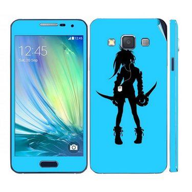 Snooky 39574 Digital Print Mobile Skin Sticker For Samsung Galaxy A5 - Blue