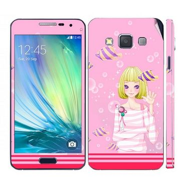 Snooky 39576 Digital Print Mobile Skin Sticker For Samsung Galaxy A5 - Pink