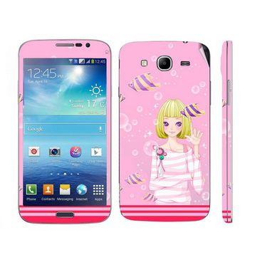 Snooky 39600 Digital Print Mobile Skin Sticker For Samsung Galaxy Mega 5.8 Gt 18281 - Pink