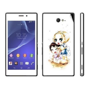 Snooky 39685 Digital Print Mobile Skin Sticker For Sony Xperia M2 Dual - White