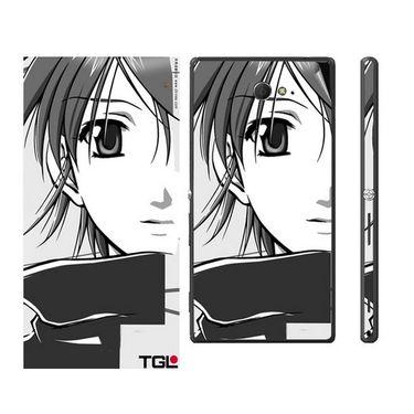 Snooky 39686 Digital Print Mobile Skin Sticker For Sony Xperia M2 Dual - Grey