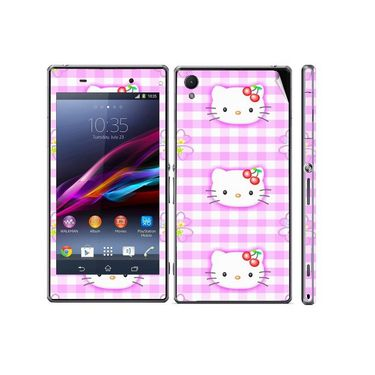 Snooky 39740 Digital Print Mobile Skin Sticker For Sony Xperia Z1 - Pink