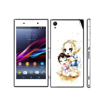Snooky 39745 Digital Print Mobile Skin Sticker For Sony Xperia Z1 - White