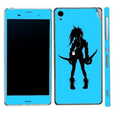 Snooky 39766 Digital Print Mobile Skin Sticker For Sony Xperia Z3 - Blue