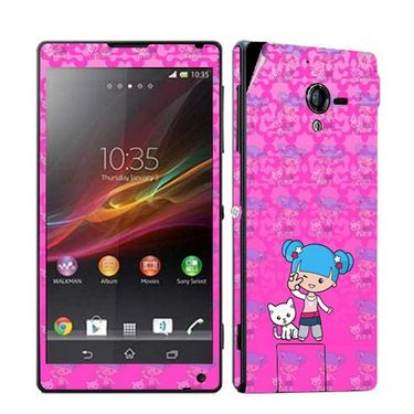 Snooky 39783 Digital Print Mobile Skin Sticker For Sony Xperia ZL - Pink