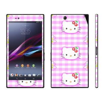 Snooky 39788 Digital Print Mobile Skin Sticker For Sony Xperia Z Ultra - Pink