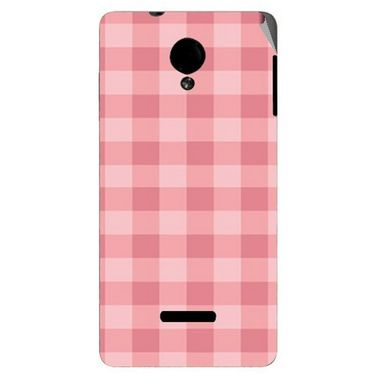 Snooky 40282 Digital Print Mobile Skin Sticker For Micromax Canvas Fun A74 - Pink