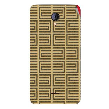 Snooky 40420 Digital Print Mobile Skin Sticker For Micromax Unite 2 A106 - Brown