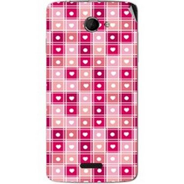 Snooky 40439 Digital Print Mobile Skin Sticker For Micromax Canvas Elanza 2 A121 - Pink