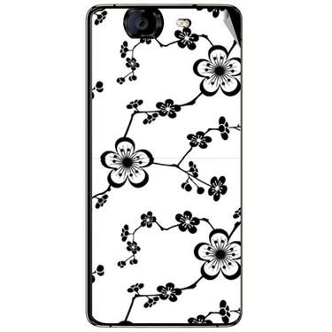 Snooky 40468 Digital Print Mobile Skin Sticker For Micromax Canvas Knight A350 - White