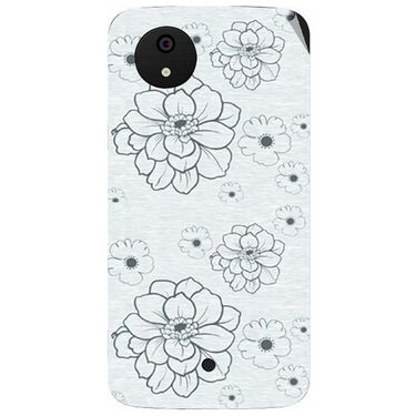 Snooky 40483 Digital Print Mobile Skin Sticker For Micromax Android One - Grey