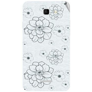 Snooky 40581 Digital Print Mobile Skin Sticker For Micromax Canvas XL2 A109 - Grey