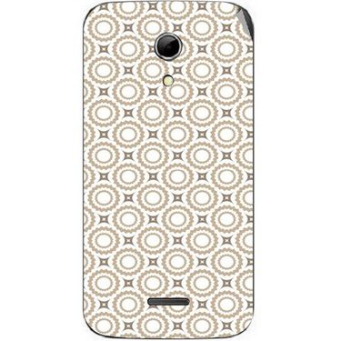 Snooky 40613 Digital Print Mobile Skin Sticker For Micromax Canvas 2.2 A114 - Brown