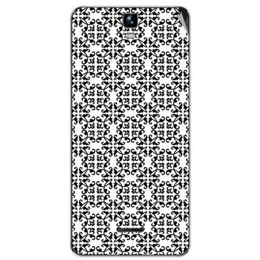 Snooky 40668 Digital Print Mobile Skin Sticker For Micromax Canvas HD Plus A190 - White