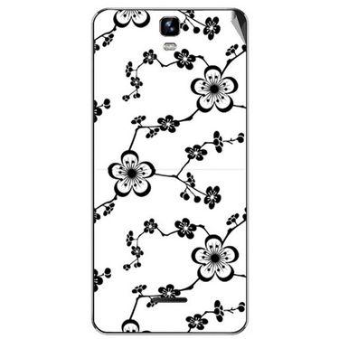 Snooky 40678 Digital Print Mobile Skin Sticker For Micromax Canvas HD Plus A190 - White