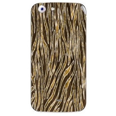 Snooky 40685 Digital Print Mobile Skin Sticker For Micromax Canvas 4 A210 - Brown