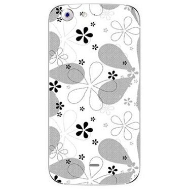 Snooky 40694 Digital Print Mobile Skin Sticker For Micromax Canvas 4 A210 - White