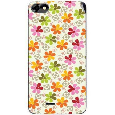 Snooky 40768 Digital Print Mobile Skin Sticker For Micromax Bolt D321 - White