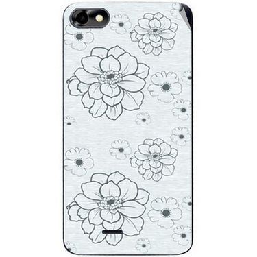 Snooky 40777 Digital Print Mobile Skin Sticker For Micromax Bolt D321 - Grey