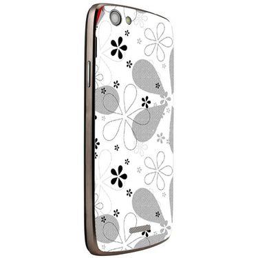 Snooky 40876 Digital Print Mobile Skin Sticker For XOLO A510S - White