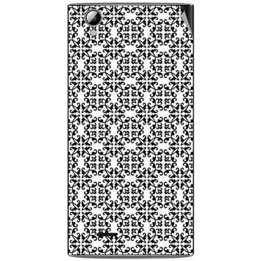 Snooky 40892 Digital Print Mobile Skin Sticker For XOLO A600 - White