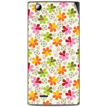 Snooky 40894 Digital Print Mobile Skin Sticker For XOLO A600 - White