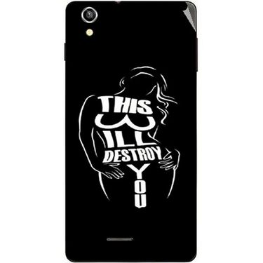 Snooky 40919 Digital Print Mobile Skin Sticker For XOLO A1010 - Black