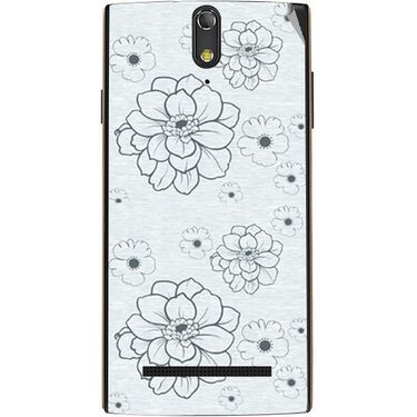 Snooky 41141 Digital Print Mobile Skin Sticker For XOLO Q1020 - Grey