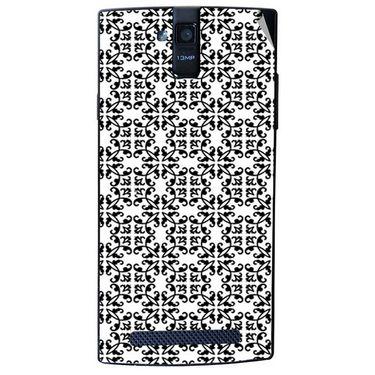 Snooky 41144 Digital Print Mobile Skin Sticker For XOLO Q2000 - White