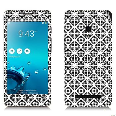 Snooky 41200 Digital Print Mobile Skin Sticker For Asus Zenfone 5 A501CG - White