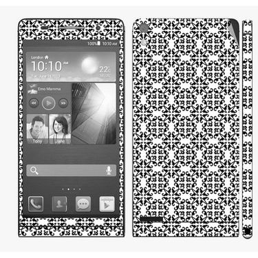 Snooky 41284 Digital Print Mobile Skin Sticker For Huawei Ascend P6 - White