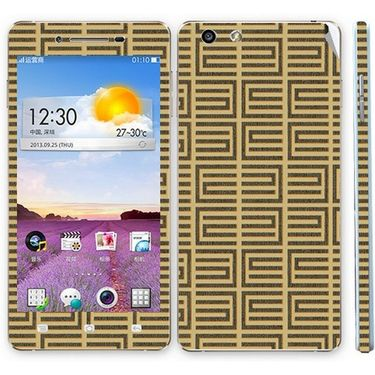 Snooky 41344 Digital Print Mobile Skin Sticker For OPPO R1 R829t - Brown