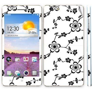 Snooky 41350 Digital Print Mobile Skin Sticker For OPPO R1 R829t - White