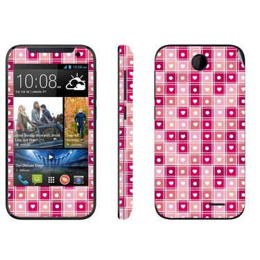 Snooky 41377 Digital Print Mobile Skin Sticker For HTC Desire 310 - Pink